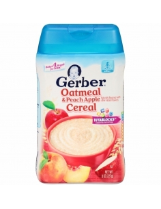 Gerber Oatmeal And Peach Apple Cereal 227g