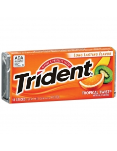 Trident Gum - Tropical Twist - 18 Sticks