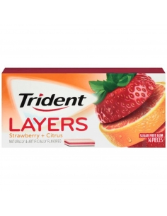 Trident Gum Layers - Strawberry & Citrus