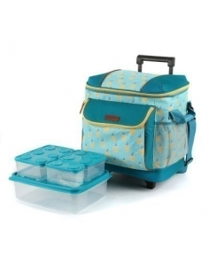 Artic Zone Insulated Rolling Tote W/Storage Boxes (Assorted Colors)