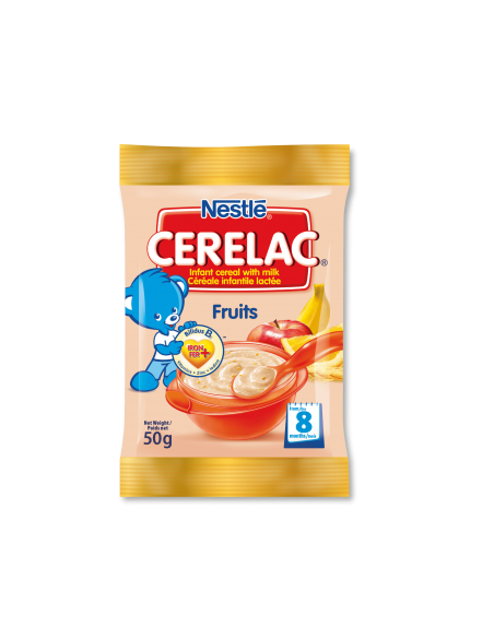 Cerelac Fruits Sachet - 50g (Strip of 10)