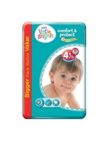 ASDA Little angel Baby Dry Diapers Size 4  (78 Nappies)