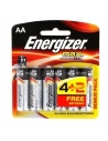 Energizer AA+ Batteries Pack of 4 plus 2 Free