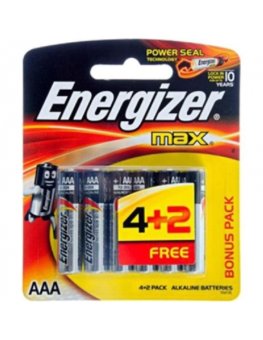 Energizer Max AA, 4 Pack Plus 2 Free