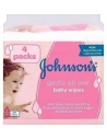 Johnson's Gentle All Over baby wipes (56 wipes) - 4 Packs