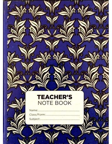 Vista Teacher's Note Book - Bond (White leaves)