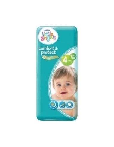 ASDA Little angel Baby Dry Diapers Size 4 for Babies Between 4-9kgs (98 Nappies)