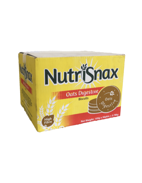 Nutrisnax Oat Digestive Biscuit - Box of 36