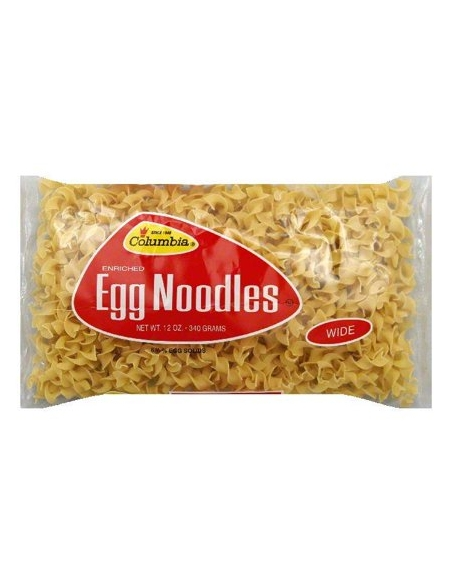 Columbia Egg Noodles Wide 454g