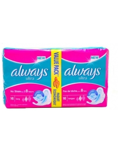 Always Ultra Thin with Wings - Long (16 Pads) Value Pack