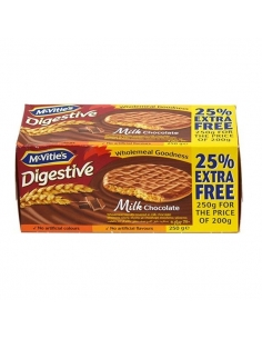 Digestive Milk Chocolate Biscuits 250g (25% extra free)