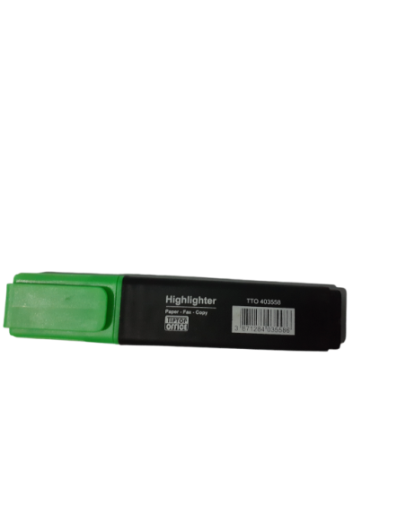 Highlighter Pen Green - Tip Top Office Chisel Point (1.5 - 5mm width)