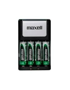 Maxell Ni-MH battery charger + 4 rechargeable batteries