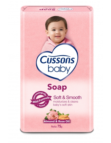 Cussons Baby - Soft & Smooth Baby Soap 75g (6 bars)