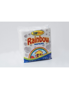 Everpack Rainbow Napkins 100pcs (Pack of 15)
